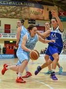 10 January 2015; Lindsay Peat, DCU Mercy, in action against Aine McKenna, Team Montenotte Hotel Cork. Basketball Ireland Women's National Cup, Semi-Final, Team Montenotte Hotel Cork v DCU Mercy, Neptune Stadium, Cork. Picture credit: Brendan Moran / SPORTSFILE