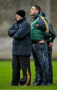 11 January 2015; Temporary Kerry manager Darragh O Sé, right and selector Seamus Moynihan look on during the game. McGrath Cup, Quarter-Final, Kerry v IT Tralee, Austin Stack Park, Tralee, Co. Kerry. Picture credit: Brendan Moran / SPORTSFILE