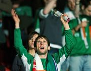 12 September 2007; Republic of Ireland supporters cheer on their team before the start of the game. 2008 European Championship Qualifier, Czech Republic v Republic of Ireland, Sparta Prague Stadium, Prague, Czech Republic. Picture Credit: David Maher / SPORTSFILE *** Local Caption ***