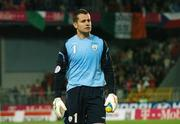 12 September 2007; A dejected Shay Given, Republic of Ireland, at the end of the game. 2008 European Championship Qualifier, Czech Republic v Republic of Ireland, Sparta Prague Stadium, Prague, Czech Republic. Picture Credit: David Maher / SPORTSFILE *** Local Caption ***