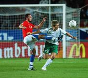 12 September 2007; Kevin Doyle, Republic of Ireland, in action against Tomas Sivok, Czech Republic. 2008 European Championship Qualifier, Czech Republic v Republic of Ireland, Sparta Prague Stadium, Prague, Czech Republic. Picture credit: David Maher / SPORTSFILE