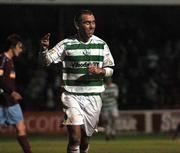 14 September 2007; Andy Myler, Shamrock Rovers, celebrates after scoring his side's thrid goal. eircom League of Ireland Premier Division, Shamrock Rovers v Galway United, Tolka Park, Dublin. Picture credit; Stephen McCarthy / SPORTSFILE