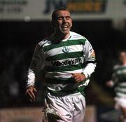 14 September 2007; Andy Myler, Shamrock Rovers, celebrates after scoring his side's fourth goal. eircom League of Ireland Premier Division, Shamrock Rovers v Galway United, Tolka Park, Dublin. Picture credit; Stephen McCarthy / SPORTSFILE