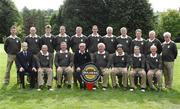 14 September 2007; The team and officials of Tuam Golf Club, Co. Galway, back row, left to right, Padraic Forde, Tom McHugh, Darren O'Connor, Kevin Fallen, Ian Pierce, Barry Steede, Tom Gohery, Padraic King, Michael Mulryan and Richard Canavan, front row, left to right, Alan Andrews, Bulmers, Tom Farrell, Paddy Coyne, Pat Casey, Captain, Michael McPhillips, Team Captain, Sean Acton, Odran Monaghan and Jarlath Crisham, before the Bulmers Jimmy Bruen Shield Semi-Finals. Bulmers Cups and Shields Finals 2007, Shandon Park Golf Club, Belfast, Co. Antrim. Picture credit: Ray McManus / SPORTSFILE