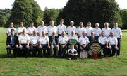 14 September 2007; Warrenpoint Golf Club, winners of the Magners Pierce Purcell Shield, back row, left to right, Seamus Pentony, Raymond O'Hagan, Noel Devine, Gerry Robertson, Andrew Ferguson, Kieran Caldwell, Seamus Colgan, Michael Redmond, Danny McGivern, Jim Bannon and Gerry Sands, Vice-Captain, front row, left to right, Paul McGurk, Magners; Seamus Sands, Damian Flanagan, Paul Devlin, Barry Doyle, President Elect, Golfing Union of Ireland; Robin Prescott, President, Warrenpoint G.C.;  Paul Digby, Captain, Michael Devine, Team Manager, Dennis McConnell, Captain, Shandon Park G.C.; Michael McGivern, Michael Fitzpatrick and Sean Devine (front) Magners Cups and Shields Finals 2007, Shandon Park Golf Club, Belfast, Co. Antrim. Picture credit: Ray McManus / SPORTSFILE