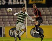 17 September 2007; Liam Burns, Bohemians, in action against Andy Myler, Shamrock Rovers. eircom League of Ireland Premier Division, Bohemians v Shamrock Rovers, Dalymount Park, Dublin. Picture credit; David Maher / SPORTSFILE