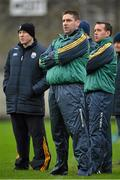 11 January 2015; Temporary Kerry manager Darragh O Sé, centre, with his selectors Seamus Moynihan, left, and John Shanahan. McGrath Cup, Quarter-Final, Kerry v IT Tralee, Austin Stack Park, Tralee, Co. Kerry. Picture credit: Brendan Moran / SPORTSFILE