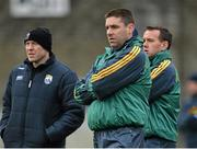 11 January 2015; Temporary Kerry manager Darragh O Sé with selectors Seamus Moynihan, left, and John Shanahan. McGrath Cup, Quarter-Final, Kerry v IT Tralee, Austin Stack Park, Tralee, Co. Kerry. Picture credit: Brendan Moran / SPORTSFILE