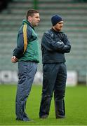11 January 2015; Temporary Kerry manager Darragh O Sé with trainer/selector Ciarán McCabe, right. McGrath Cup, Quarter-Final, Kerry v IT Tralee, Austin Stack Park, Tralee, Co. Kerry. Picture credit: Brendan Moran / SPORTSFILE