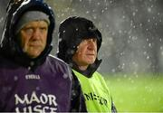 14 January 2015; Peter McDonnell, right, acting Armagh manager for the night in the absence of Kieran McGeeney, with selector Martin McQuillan. Bank of Ireland Dr McKenna Cup, Group B, Round 3, Armagh v St Mary's University College. Athletic Grounds, Armagh. Picture credit: Oliver McVeigh / SPORTSFILE