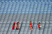 23 September 2007; Cork supporters make their way to their seats before the start of the game. TG4 All-Ireland Ladies Senior Football Championship Final, Cork v Mayo, Croke Park, Dublin. Picture credit; David Maher / SPORTSFILE