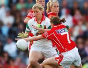 23 September 2007; Cora Staunton, Mayo, in action against Briege Corkery, Cork. TG4 All-Ireland Ladies Senior Football Championship Final, Cork v Mayo, Croke Park, Dublin. Picture credit; Brian Lawless / SPORTSFILE