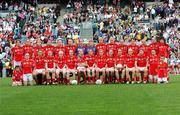 23 September 2007; The Cork squad. TG4 All-Ireland Ladies Senior Football Championship Final, Cork v Mayo, Croke Park, Dublin. Picture credit; Brian Lawless / SPORTSFILE