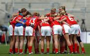 23 September 2007; The Cork team before the start of the game.TG4 All-Ireland Ladies Senior Football Championship Final, Cork v Mayo, Croke Park, Dublin. Picture credit; Paul Mohan / SPORTSFILE