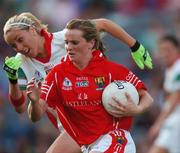 23 September 2007; Briege Corkery, Cork, in action against Ciara McDermott, Mayo. TG4 All-Ireland Ladies Senior Football Championship Final, Cork v Mayo, Croke Park, Dublin. Picture credit; Brian Lawless / SPORTSFILE