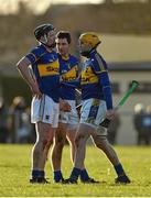18 January 2015; Tipperary players Tom Stapleton, left, Conor O'Mahony, centre, and Shane McGrath after defeat to Clare. Waterford Crystal Cup, Quarter-Final, Clare v Tipperary, O'Garney Park, Sixmilebridge, Co. Clare. Picture credit: Diarmuid Greene / SPORTSFILE