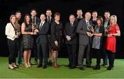 19 January 2015; AIB, sponsor to both the GAA and Camogie Club Championships, has today honoured eleven club players from Camogie, Hurling and Football at #TheToughest club player awards. Voted for by national and regional GAA media, the players were selected based on their overall performance throughout the 2014/15 club season. Pictured at the awards are, from left, Rachel Monaghan, Mullagh, Co. Galway, Camogie, Gary Sice, Corofin, Co. Galway, football, Raquel McCarry, Loughiel Shamrocks, Co. Antrim, Paudie O'Brien, Co. Limerick, hurling, Brian Keating, AIB Brand Director, Ger Brennan, St Vincent's, Dublin, football, Aileen Lawlor, President of the Camogie Association, Uachtarán Chumann Lúthchleas Gael Liam Ó Néill, Patsy Bradley, Slaughtneil, Co. Derry, football, Denis O'Callagahan, Head of AIB Branch Banking, Paul Braniff, Portaferry, Co. Down, football, Stacey Keogh, Oulart The Ballagh, Co. Wexford, camogie, TJ Reid, Ballyhale Shamrocks, Co. Kilkenny, hurling, and Anna Geary, Milford, Co. Cork. For exclusive content and to see why the AIB Club Championships are #TheToughest follow us @AIB_GAA and on Facebook at facebook.com/AIBGAA. AIB #TheToughest Awards, Croke Park, Dublin. Picture credit: Paul Mohan / SPORTSFILE