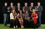 19 January 2015; AIB, sponsor to both the GAA and Camogie Club Championships, has today honoured eleven club players from Camogie, Hurling and Football at #TheToughest club player awards. Voted for by national and regional GAA media, the players were selected based on their overall performance throughout the 2014/15 club season. Pictured at the awards are, back row, from left, Gary Sice, Corofin, Co. Galway, football, Paudie O'Brien, Co. Limerick, hurling, Ger Brennan, St Vincent's, Dublin, football, Patsy Bradley, Slaughtneil, Co. Derry, football, Paul Braniff, Portaferry, Co. Down, football, and  TJ Reid, Ballyhale Shamrocks, Co. Kilkenny, hurling. Front row from left, Rachel Monaghan, Mullagh, Co. Galway, Camogie, Raquel McCarry, Loughiel Shamrocks, Co. Antrim, Stacey Keogh, Oulart The Ballagh, Co. Wexford, and Anna Geary, Milford, Co. Cork. For exclusive content and to see why the AIB Club Championships are #TheToughest follow us @AIB_GAA and on Facebook at facebook.com/AIBGAA. AIB #TheToughest Awards, Croke Park, Dublin. Picture credit: Paul Mohan / SPORTSFILE