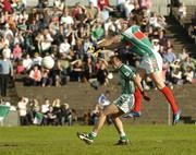 30 September 2007; David Brady, Ballina Stephenites, beats Sean Lenehan, Charlestown, to score his side's second goal. Mayo Senior Football Championship Final, Ballina Stephenites v Charlestown, McHale Park, Castlebar, Co. Mayo. Picture credit; Stephen McCarthy / SPORTSFILE