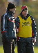 10 January 2015; Cork selector Mark Landers, right, with manager Jimmy Barry Murphy. Waterford Crystal Cup Preliminary Round, Cork v University of Limerick, CIT GAA Grounds, Bishopstown, Co. Cork. Picture credit: Brendan Moran / SPORTSFILE