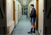 20 January 2015; Paddy O'Reilly, DIT, practices outside the dressing room ahead of the game. Bord na Mona Walsh Cup, Group 2, Round 2, Dublin v DIT, Parnell Park, Dublin. Picture credit: Barry Cregg / SPORTSFILE