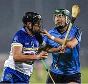 20 January 2015; Jude Sweeney, DIT, in action against Michael Carton, Dublin. Bord na Mona Walsh Cup, Group 2, Round 2, Dublin v DIT, Parnell Park, Dublin. Picture credit: Barry Cregg / SPORTSFILE