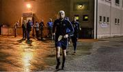 20 January 2015; Peter Kelly, Dublin, leads out his team-mates to the field ahead of the game. Bord na Mona Walsh Cup, Group 2, Round 2, Dublin v DIT, Parnell Park, Dublin. Picture credit: Barry Cregg / SPORTSFILE