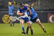 20 January 2015; Sean McClelland, DIT, in action against Cian Boland, Dublin. Bord na Mona Walsh Cup, Group 2, Round 2, Dublin v DIT, Parnell Park, Dublin. Picture credit: Barry Cregg / SPORTSFILE
