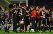 1 November 2017; Bohemians players celebrate after the SSE Airtricity National Under 19 League Final match between Bohemians and St Patrick's Athletic at Dalymount Park in Dublin. Photo by Piaras Ó Mídheach/Sportsfile