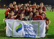 1 November 2017; The Bohemians squad celebrate after the SSE Airtricity National Under 19 League Final match between Bohemians and St Patrick's Athletic at Dalymount Park in Dublin. Photo by Piaras Ó Mídheach/Sportsfile
