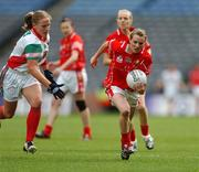 23 September 2007; Briege Corkery, Cork, in action against Claire Egan, Mayo. TG4 All-Ireland Ladies Senior Football Championship Final, Cork v Mayo, Croke Park, Dublin. Picture credit; Matt Browne / SPORTSFILE