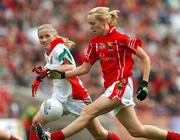 23 September 2007; Nollaig Cleary, Cork, in action against Claire O'Hara, Mayo. TG4 All-Ireland Ladies Senior Football Championship Final, Cork v Mayo, Croke Park, Dublin. Picture credit; Matt Browne / SPORTSFILE