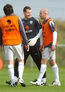 11 October 2007; Republic of Ireland's Shay Given with team-mate Lee Carsley during squad training. Gannon Park, Malahide, Co. Dublin. Picture credit; Brian Lawless / SPORTSFILE