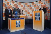 10 October 2007; Tony O'Donoghue, RTE, with Kevin MacDonald, FAI Assistant Coach, and Paddy McCall, FAI, at the 2007 FAI Ford Cup Semi-Final Draw. Grand Hotel, Malahide, Dublin. Picture credit: Matt Browne / SPORTSFILE