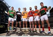 31 May 2016; James Toher of Meath, Keith Raymond of Sligo, Conor Carson of Antrim, Shane Callan of Louth, Ciaran Clifford of Armagh and Eoghan Collins of Mayo, in attendance at the Christy Ring, Nicky Rackard & Lory Meagher Finals media event. Croke Park, Dublin. Photo by Sam Barnes/Sportsfile