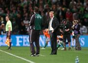 13 October 2007; Republic of Ireland manager Steve Staunton remonstrates with 4th official Martin Hansson. 2008 European Championship Qualifier, Republic of Ireland v Germany, Croke Park, Dublin. Picture credit; Brian Lawless / SPORTSFILE