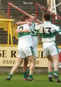 14 October 2007; Portlaoise players, from left, Cahir Healy, Craig Rogers and Peter McNulty celebrate victory. Laois Senior Football Championship Final, Portlaoise v Stradbally. O'Moore Park, Portlaoise. Picture credit; Pat Murphy / SPORTSFILE