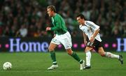 13 October 2007; Aiden McGeady, Republic of Ireland, in action against Piotr Trochowski, Germany. 2008 European Championship Qualifier, Republic of Ireland v Germany, Croke Park, Dublin. Picture credit; Brian Lawless / SPORTSFILE