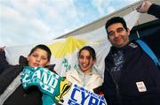 17 October 2007; Mrio Nicolaou with his children Nicola, age 12, and Ethan, age 9, originally from Cyprus, now living in Tyrrellspass, Co. Westmeath, ahead of the game. 2008 European Championship Qualifier, Republic of Ireland v Cyprus, Croke Park, Dublin. Picture credit; Stephen McCarthy / SPORTSFILE