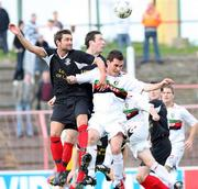 20 October 2007; David Scullion, Glentoran, in action against Andrew Dickson, Larne. Carnegie Premier League, Glentoran v Larne, The Oval, Belfast, Co. Antrim. Picture credit; Mark Pearce / SPORTSFILE