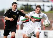 20 October 2007; Chris Morgan, Glentoran, in action against Anto Lagan, Larne. Carnegie Premier League, Glentoran v Larne, The Oval, Belfast, Co. Antrim. Picture credit; Mark Pearce / SPORTSFILE