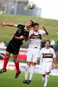 20 October 2007; Kyle Neill, Glentoran, in action against Marty Hunter, Larne. Carnegie Premier League, Glentoran v Larne, The Oval, Belfast, Co. Antrim. Picture credit; Mark Pearce / SPORTSFILE
