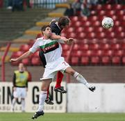 20 October 2007; Sean Ward, Glentoran, in action against Marty Hunter, Larne. Carnegie Premier League, Glentoran v Larne, The Oval, Belfast, Co. Antrim. Picture credit; Mark Pearce / SPORTSFILE