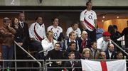 20 October 2007; Prince Harry and his friends look worried with ten minutes to go. Rugby World Cup Final, South Africa v England,Stade de France, Paris. Picture credit; Paul Thomas / SPORTSFILE