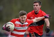 27 January 2015; Donal Óg Hodnett, Cork IT, in action against Fergal McNamara, UCC. Independent.ie Sigerson Cup, Round 1, UCC v Cork IT, Mardyke, Cork. Picture credit: Barry Cregg / SPORTSFILE