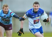 28 January 2015; Aran Waters, DIT, in action against Niall Darby, GMIT. Independent.ie Sigerson Cup, Round 1, GMIT v DIT. Tuam Stadium, Tuam, Co. Galway. Picture credit: David Maher / SPORTSFILE