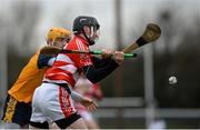 29 January 2015; Alan Dennehy, Cork IT, in action against Donal Breathnach, DCU. Independent.ie Fitzgibbon Cup, Group A, Round 1, DCU v Cork IT. Dublin City University, Dublin. Picture credit: Piaras Ó Mídheach / SPORTSFILE