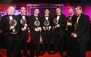 19 October 2007; Kerry Vodafone GAA All-Star award winners, from left, Colm Cooper, Declan O'Sullivan, Marc O Se, Killian Young, Young Player of the Year, Darragh O Se, Tomas O Se and Aiden O'Mahony during the 2007 Vodafone GAA All-Star Awards. Citywest Hotel, Conference, Leisure & Golf Resort, Saggart, Co. Dublin. Picture credit: Brendan Moran / SPORTSFILE