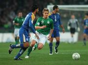17 October 2007; Kevin Doyle, Republic of Ireland, in action against Paraskevas Christou, Cyprus. 2008 European Championship Qualifier, Republic of Ireland v Cyprus, Croke Park, Dublin. Picture credit; Brian Lawless / SPORTSFILE