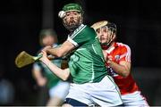 31 January 2015: Cathal King, Limerick, in action against Glen O'Connor, Cork. Waterford Crystal Cup Final, Cork v Limerick. Mallow GAA Grounds, Mallow, Co. Cork Picture credit: Ramsey Cardy / SPORTSFILE